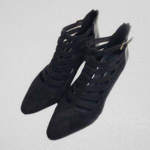 Rockport Tru365 Comfort Black Low Heel Booties 7.5